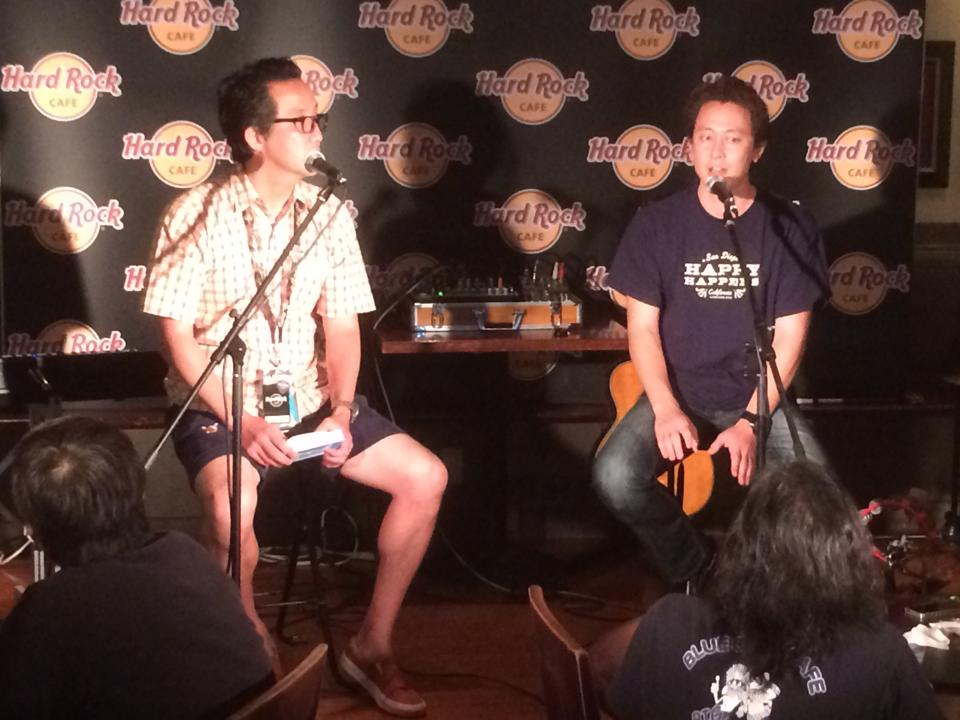 Riki Suzuki from San Diego Tourism Authority at Hard Rock in Japan