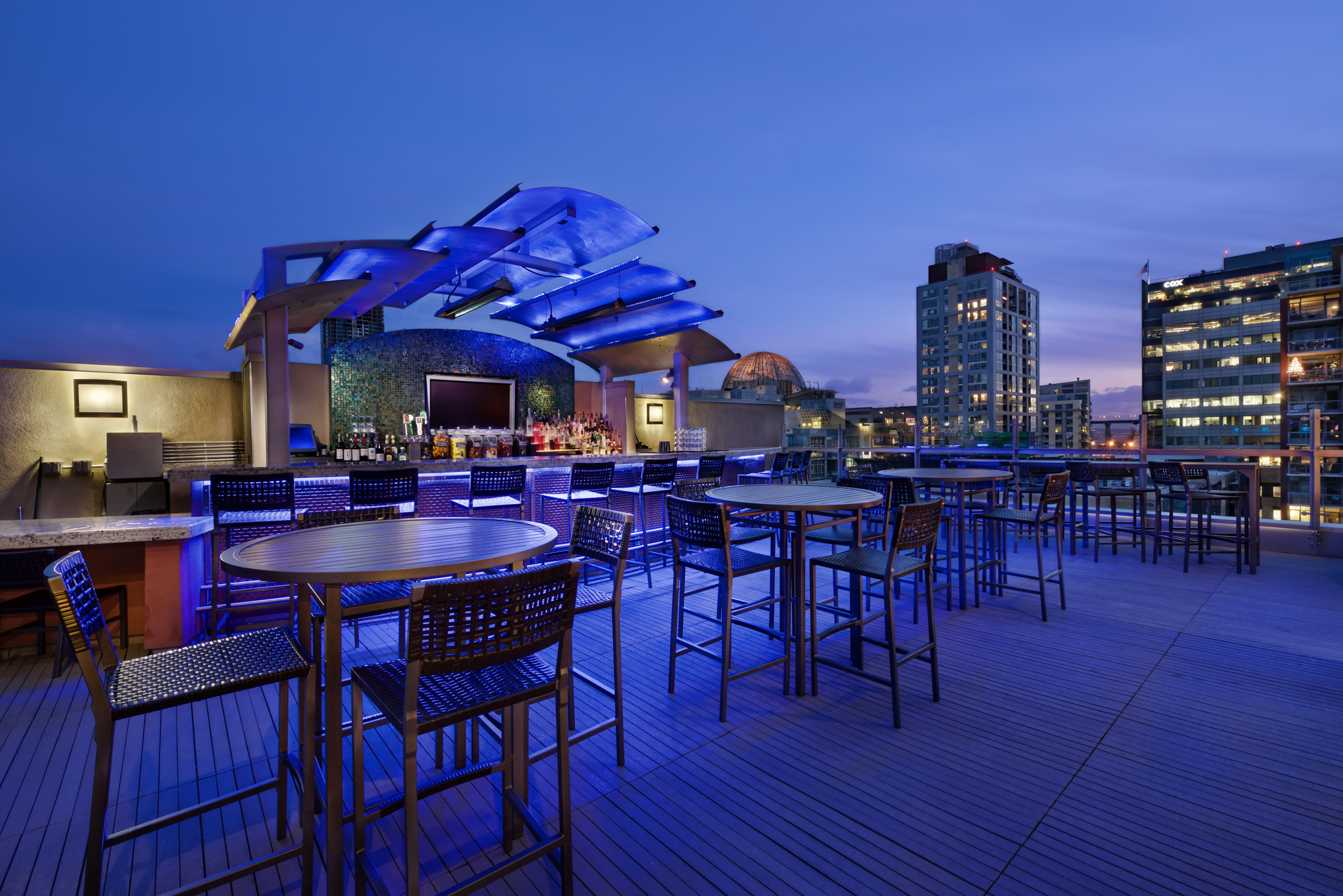 Level 9 at Hotel Indigo offers spectacular views.