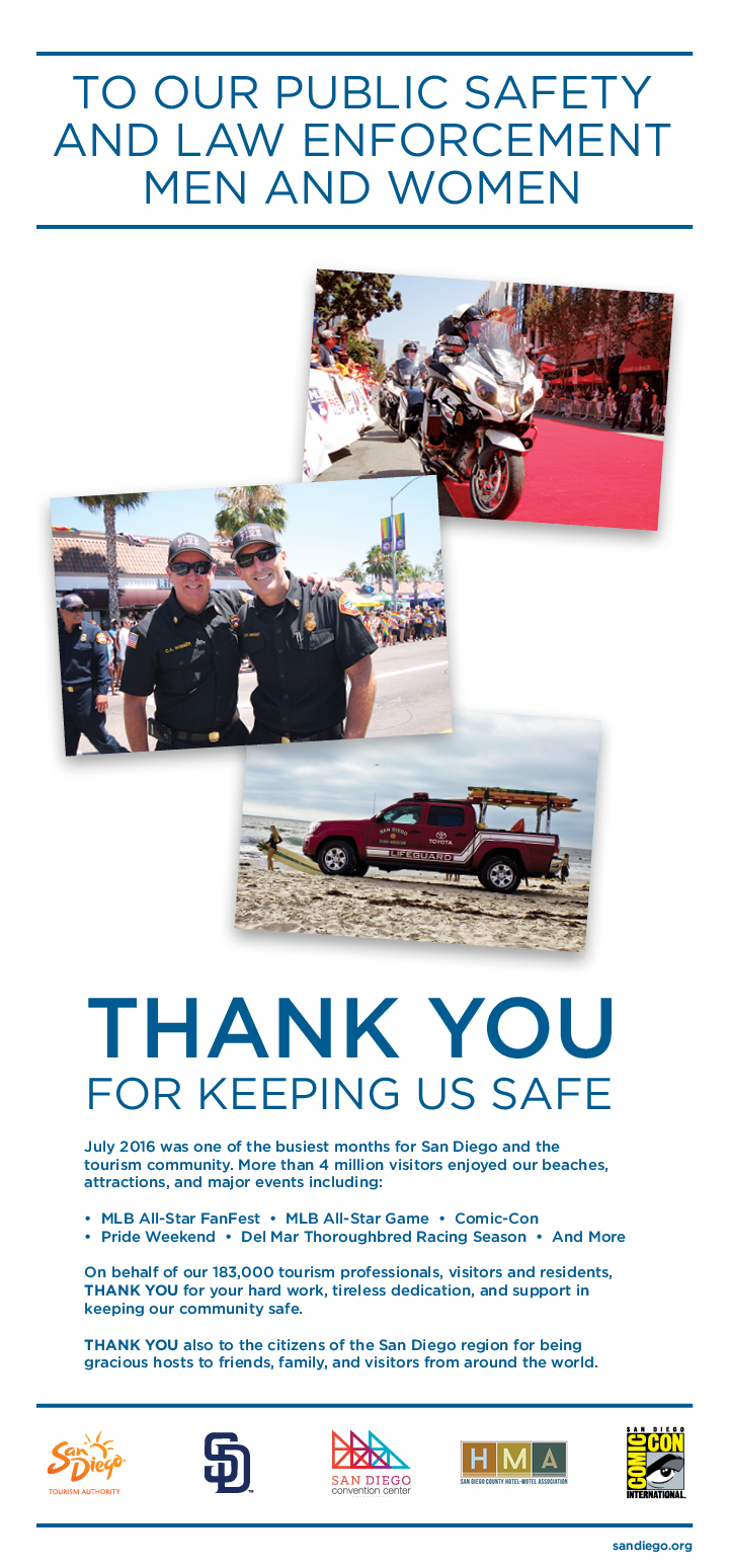Thank you To Our Public Safety and Law Enforcement Men and Women