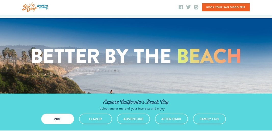 Expedia Better By The Beach Microsite