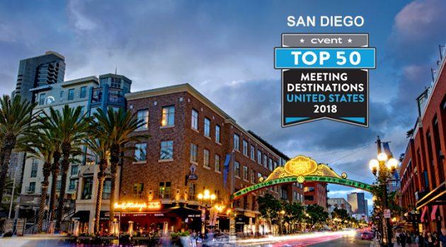 San Diego earns No. 4 spot on Cvent's 2018 Meeting Destinations List