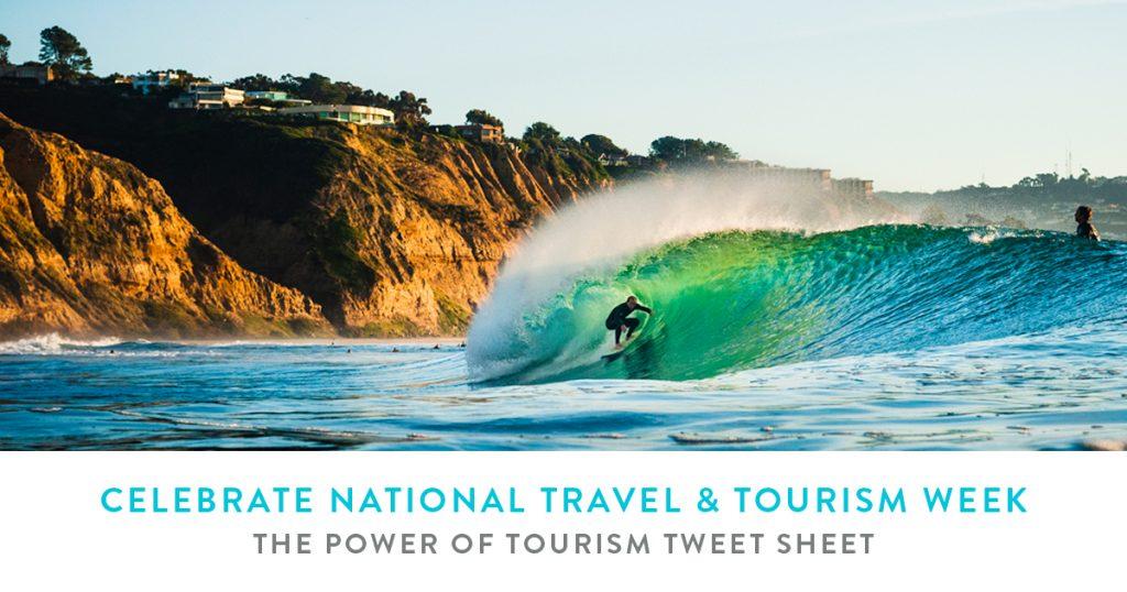 The Power of Tourism Tweet Sheet - Celebrate National Travel & Tourism Week