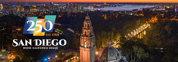 250th anniversary of the City of San Diego and beginning of California