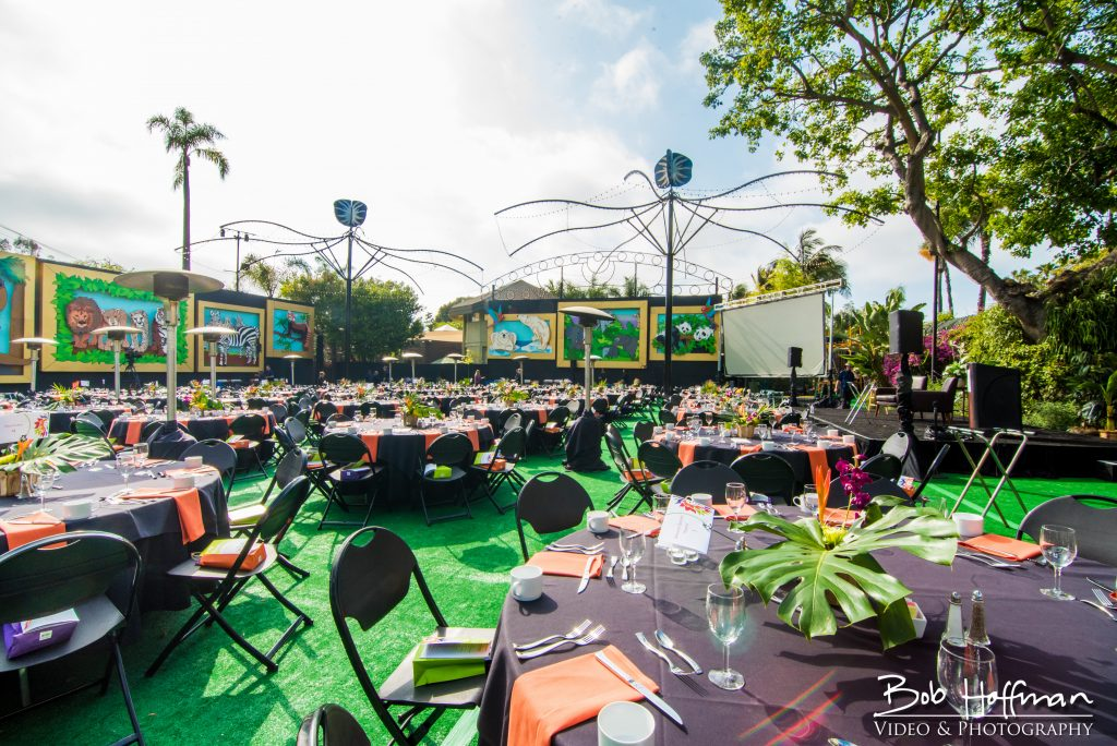 San Diego Zoo event space - jungle themed.